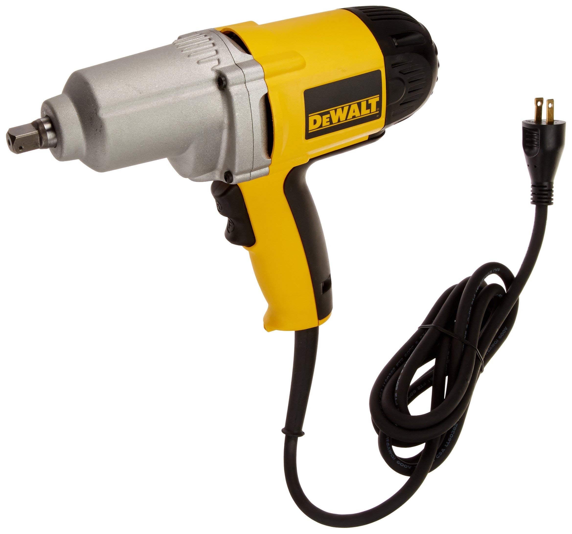 DEWALT DW292K 7.5 Amp 1/2-Inch Impact Wrench with Detent Pin Anvil (Certified Refurbished)
