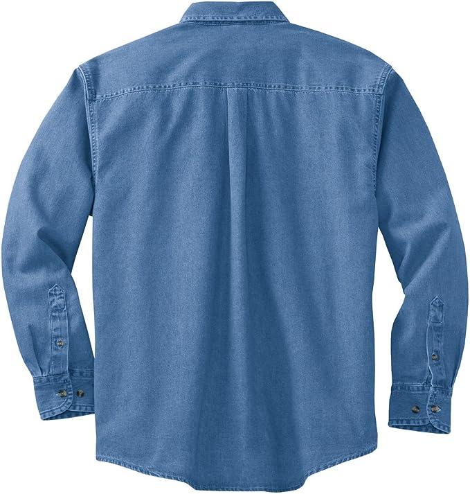 Joes USA 6.5-Ounce Tall Long Sleeve Denim Shirts in Tall Sizes LT-4XLT