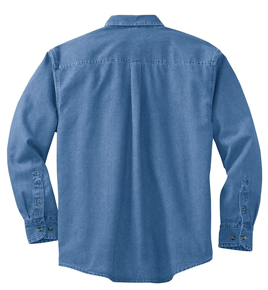 c0a6a884c4 Joe s USA 6.5-Ounce Tall Long Sleeve Denim Shirts in Tall Sizes  LT-4XLT at  Amazon Men s Clothing store