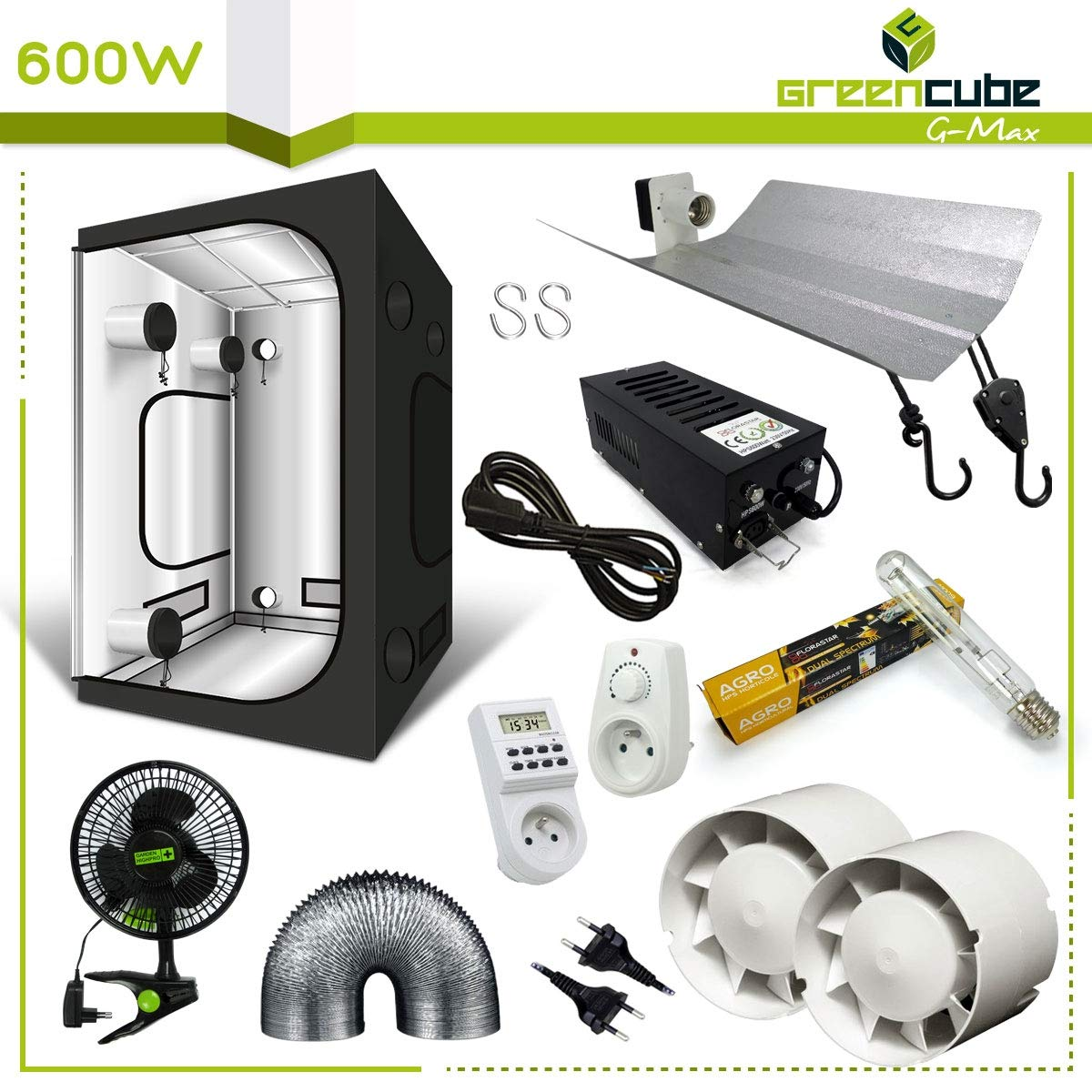 Pack Box 600W G-Max 150 Black Box HPS Hortilight