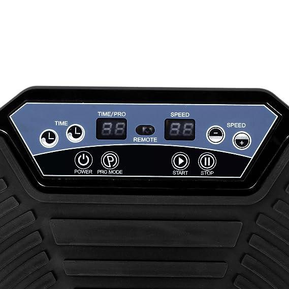 Plataforma Vibratoria, Máquina de Ejercicio Masaje Motor Silencioso y con Control Remoto y Bandas de Elásticas para Perder Peso Rápida y Relajar ...