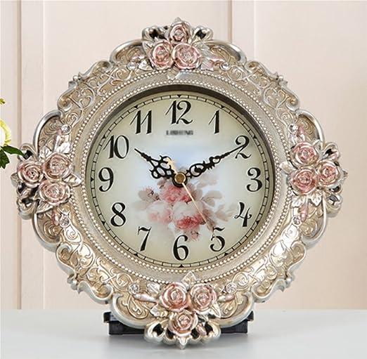 NAO&ZH Reloj de sala de estar Reloj de mesa retro americano Reloj ...