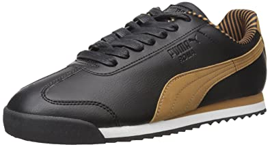 PUMA Men's Roma Citi Series Fashion Sneaker, Black/Chipmunk, ...