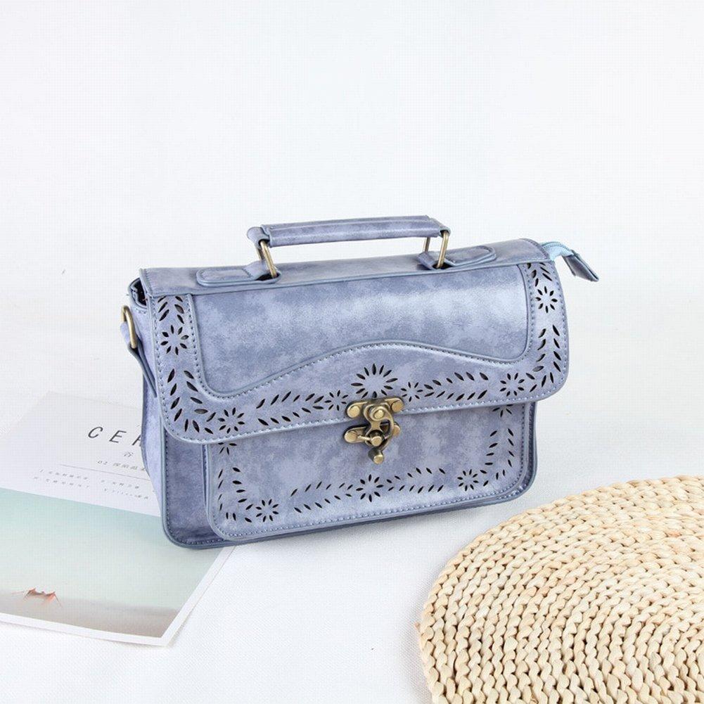 Mode Handtaschen Retro Messenger Tasche Pu Handtaschen England Messenger Bag Casual Schulter , blau