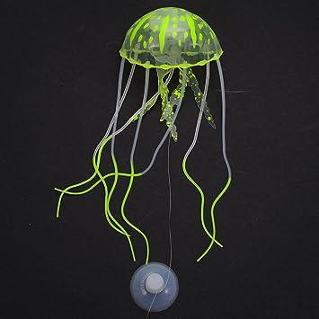 Awhao Medusas artificiales Medusas simuladas Medusas luminiscentes Decoración del acuario&Azul: Amazon.es: Jardín