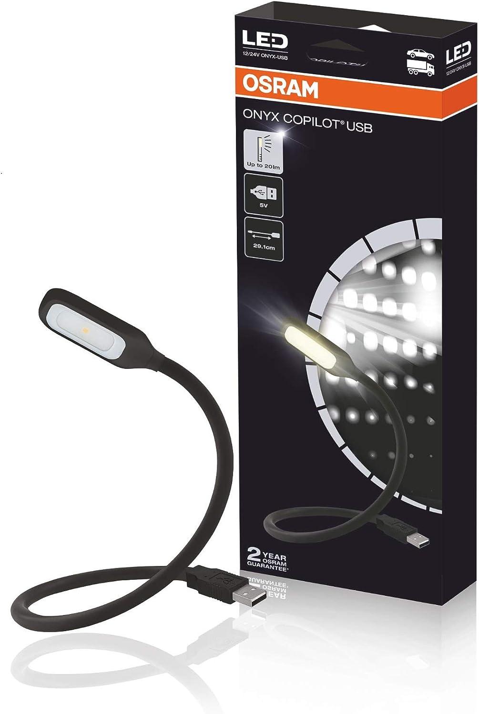 OSRAM LED Copilot Leuchte 12//24 Volt ONYX Festanschluß Lampe Schwanenhals Licht