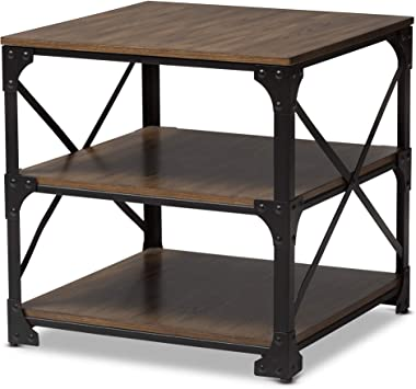 Amazon Com Baxton Studio End Tables Brown Furniture Decor