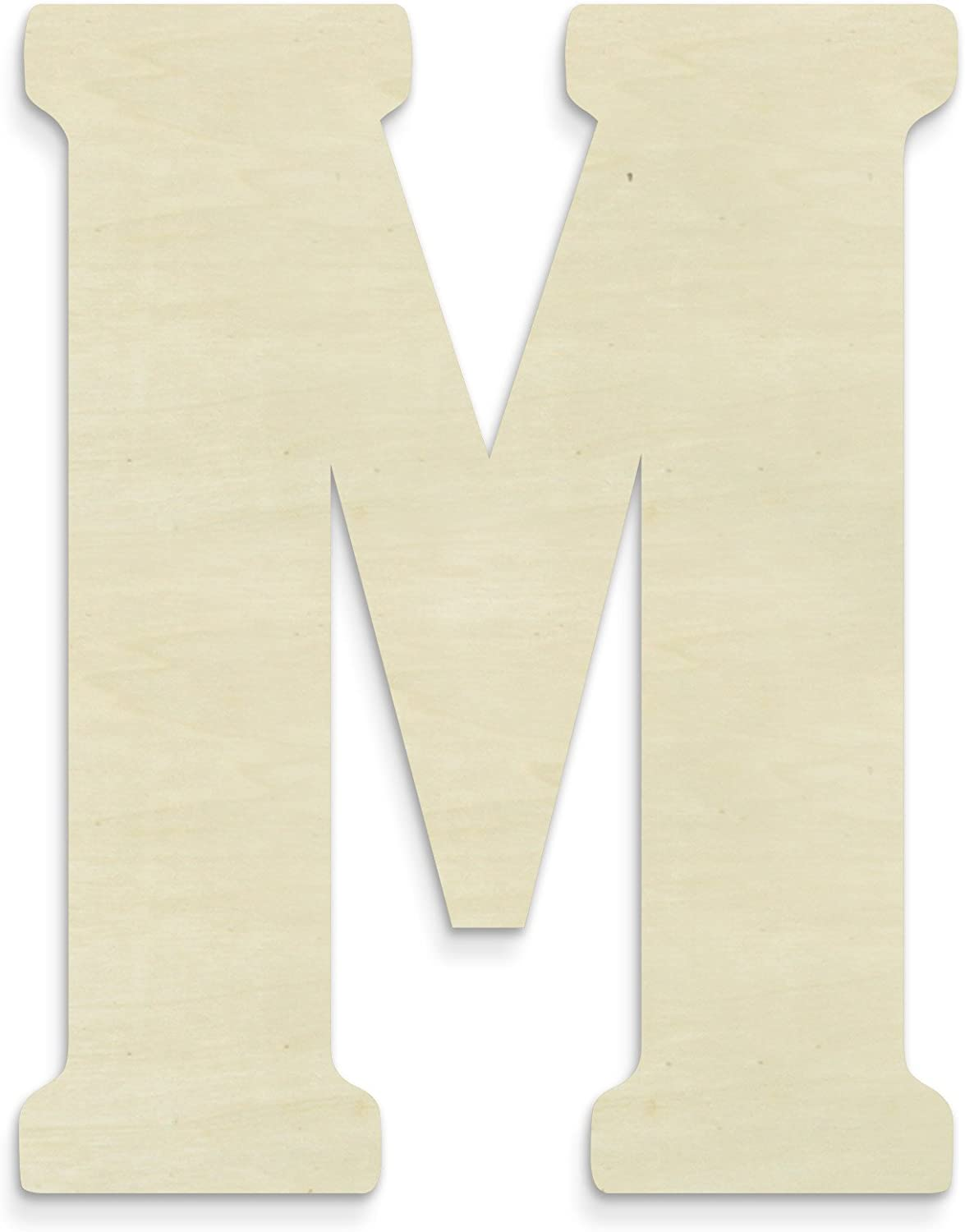 UNFINISHEDWOODCO Unfinished Wood Letter, 15-Inch, Monogrammed M, Large