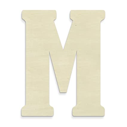 unfinishedwoodco 23 inch unfinished wood letter large letter m