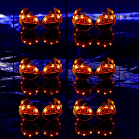 3cf2ecd4c29 Image Unavailable. Image not available for. Color  LED Pumpkin Sunglasses (6 -Pack)