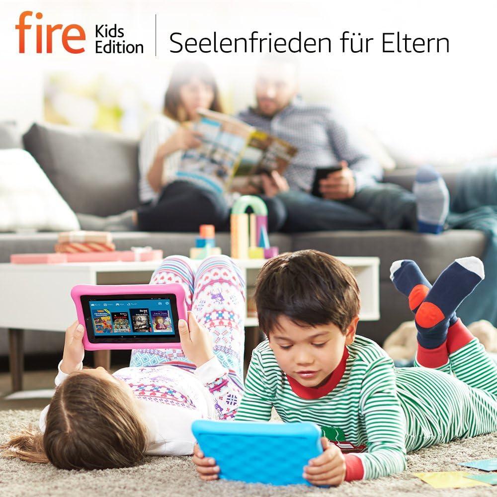 Fire Kids Edition Tablet 17 8 Cm 7 Zoll Display Wlan 16 Gb Blau Kindgerechte Schutzhülle Amazon Devices