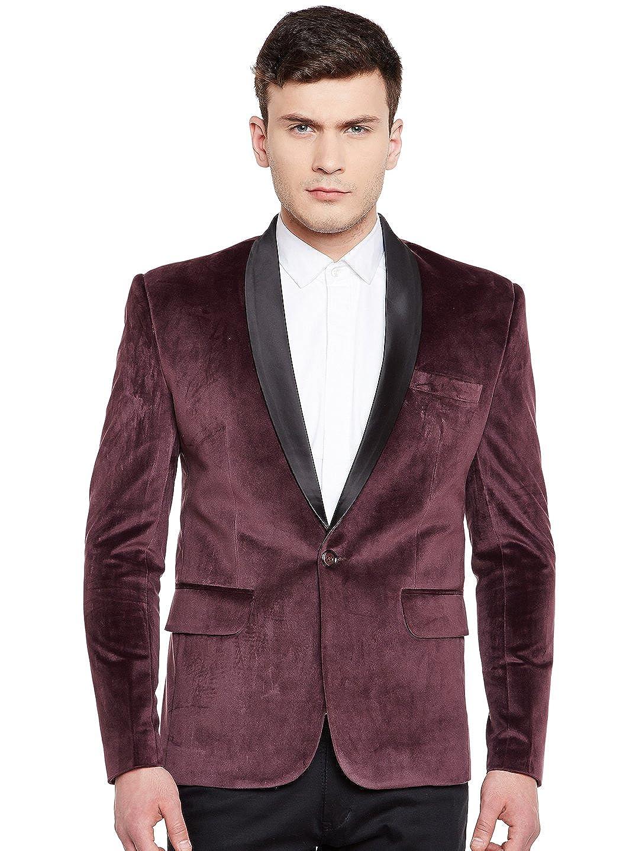 WINTAGE Men's Premium Velvet Notch Lapel Tuxedo Coat Blazer Jacket Tuxvelvet201