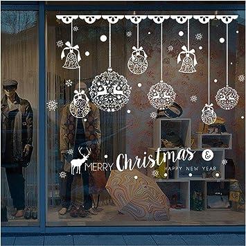 Weihnachtsdeko Shop.Weihnachtsdeko Wandaufkleber Bovake Christmas Shop Fenster Dekoration Wand Abnehmbare Aufkleber Weihnachten Glocken Hirsch