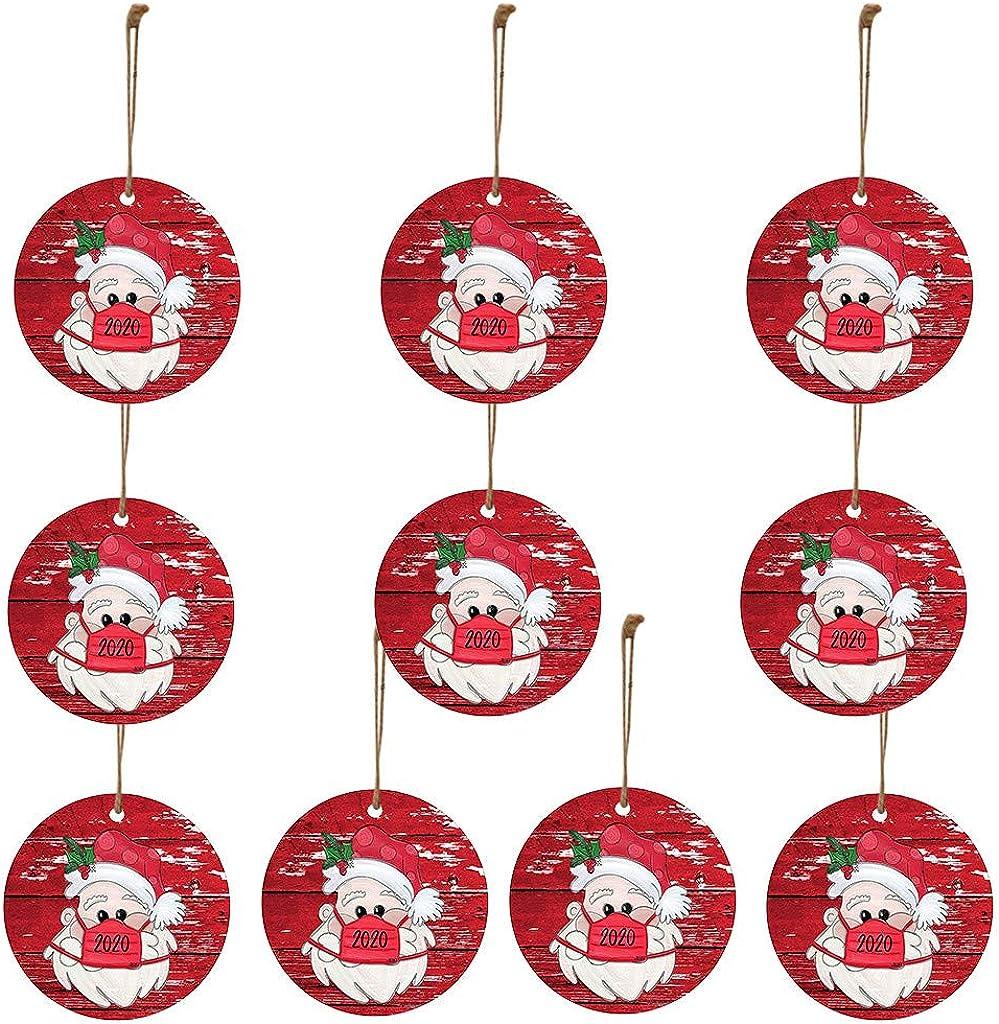 2020 Christmas Ornament - Santa Wearing a facemask Christmas Gifts Presents