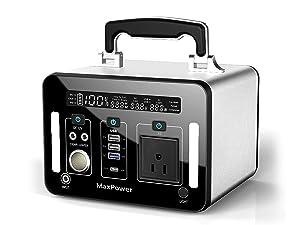 Max Power 500Wh AC出力500W 三元系リチウムポリマー ポータブル電源