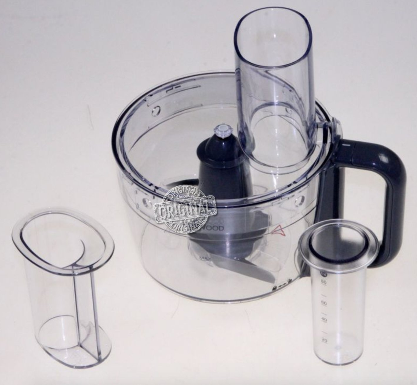 Food Processor Originale Kenwood per Kitchen Machine Prospero KM240, KM242, KM243, KM244, KM245 (Tazza, Coperchio, Premitore e Lama) CAREservice
