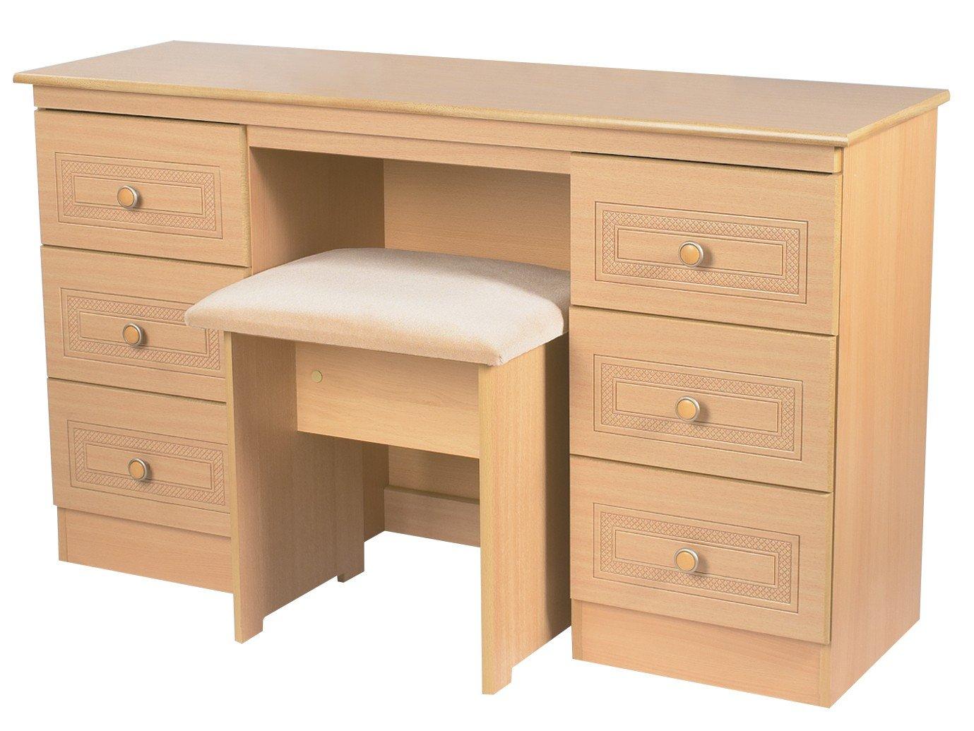 Cool Corrib Light Oak Beech Double Dressing Table Amazon Co Uk Download Free Architecture Designs Terchretrmadebymaigaardcom
