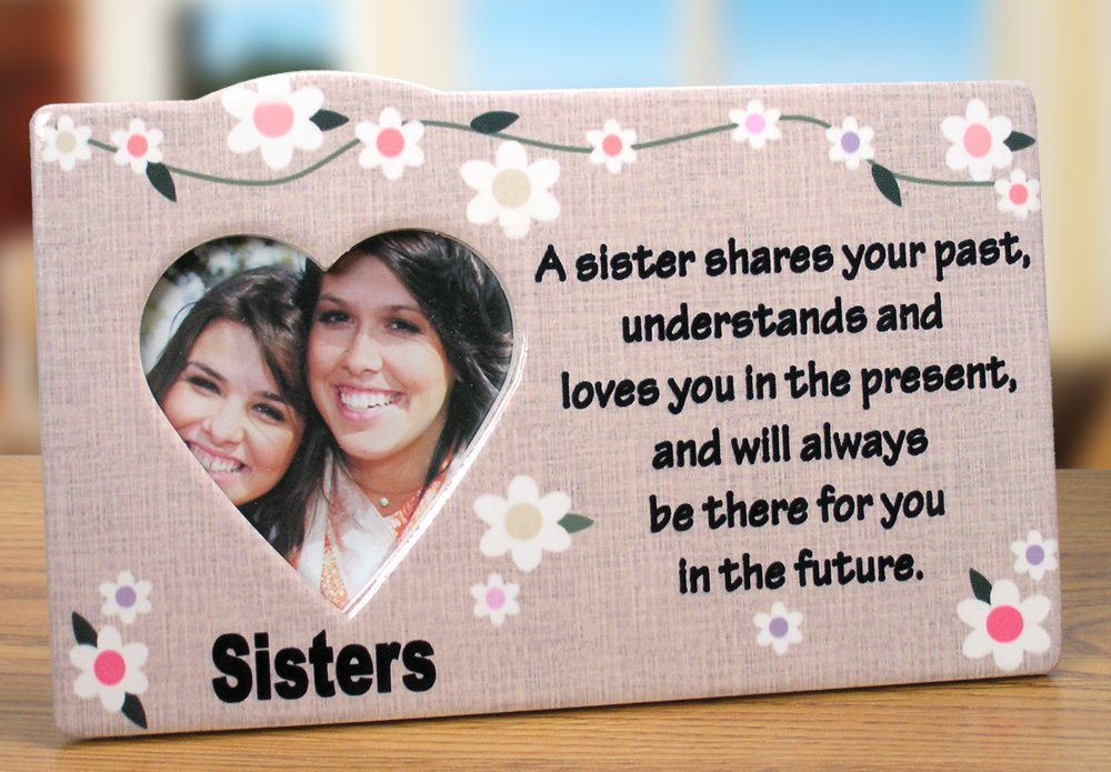 Amazon.com: Sister Photo Frame - Desktop Frame with a Sister Saying ...