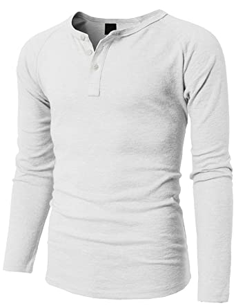 9cf874d1 H2H Mens Casual Henley Slim Fit Long Sleeve T Shirts of Waffle Cotton - -:  Amazon.co.uk: Clothing