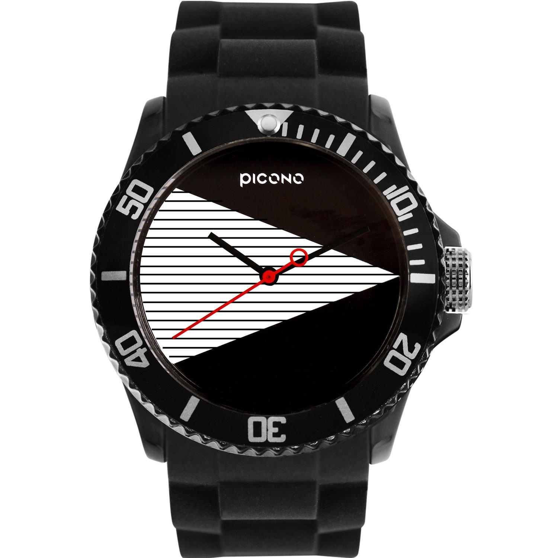 PICONOブラック&ホワイトResistantアナログクォーツ腕時計 – ba-bw-01   B06XRSPB6P