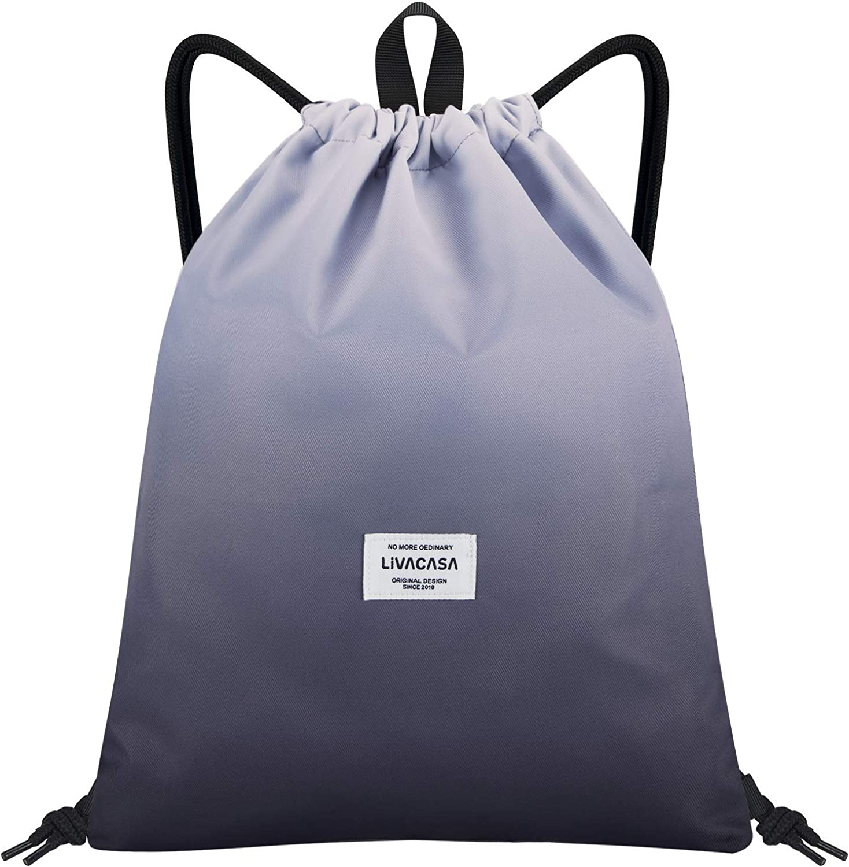 Gym Drawstring Bag Carp Koi Flower Lotus Gym Bags Women Drawstring Bag Lightweight With Zipper Pocket Sports Athletic School Travel Gym Cinch Sack