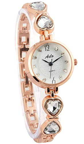 b7a2199c4ac Aelo Rose Gold Analogue White Dial Girls Watch - Www1096  Amazon.in  Watches