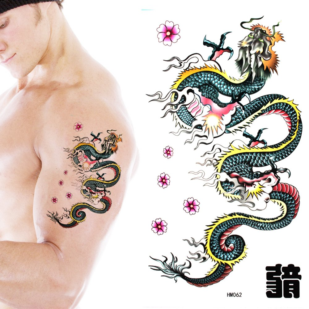 Amazon.com: GGSELL King Horse Tattoo stickers waterproof men and women fashion sexy tattoo stickers dragon: Health & Personal Care
