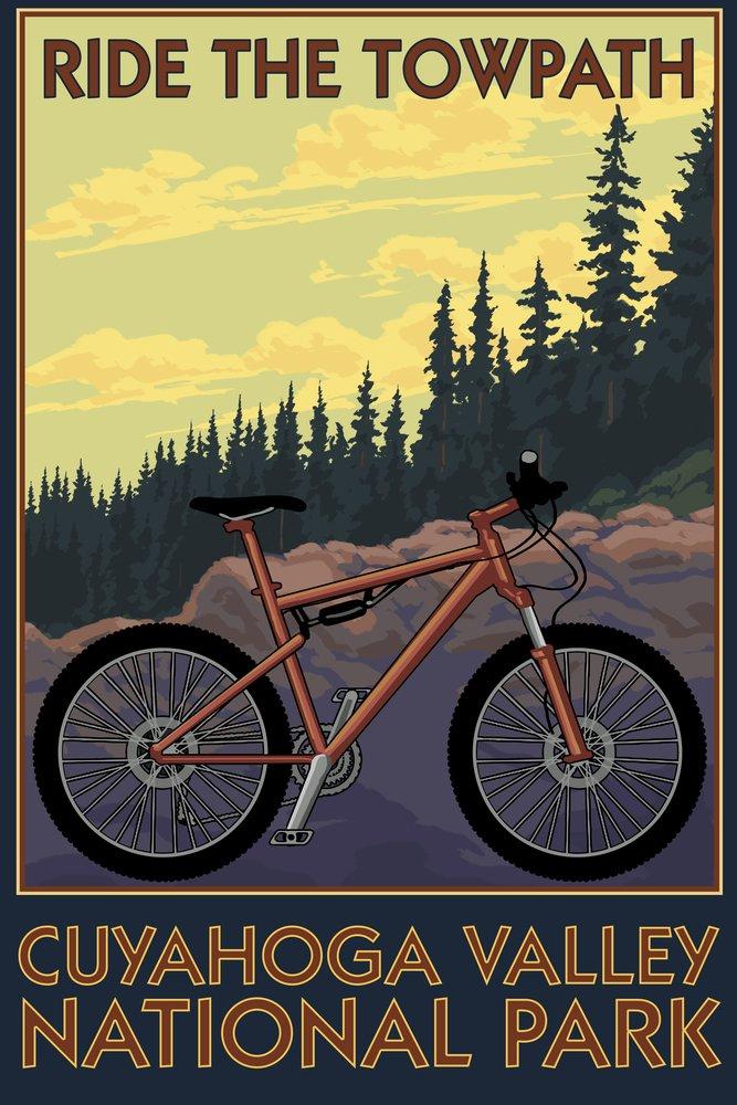 Cuyahoga Valley国立公園、オハイオ州 – Mountain Bike 9 x 12 Art Print LANT-54311-9x12 B06Y1FKQJJ  9 x 12 Art Print
