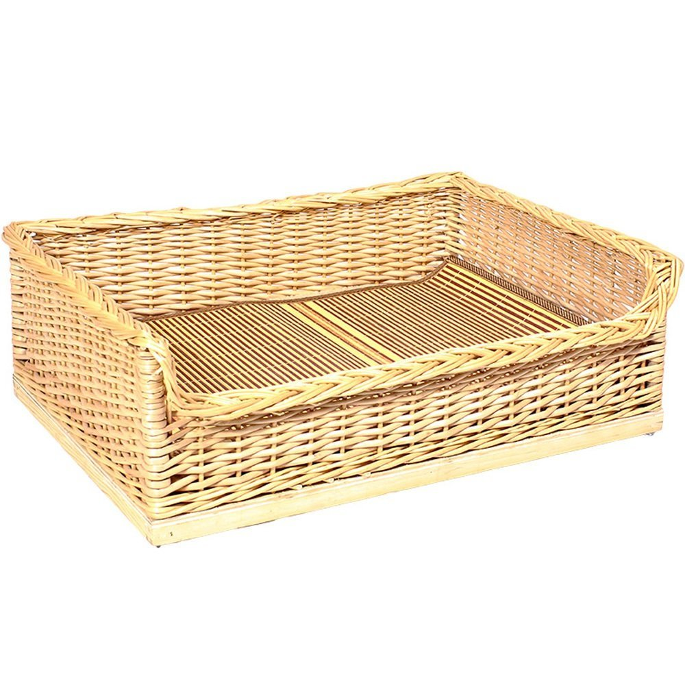 2M6045cm Pet Nest, Rattan Teddy's Nest Solid Wood Pet Bed Removable and Washable Large Dog golden Retriever Dog Bed Samoyed Nest Cat Litter (Size   2M6045cm)