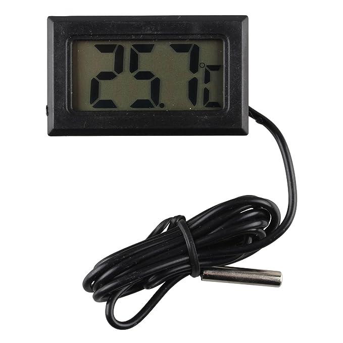 2 opinioni per Haljia Termometro digitale compatto con monitor LCD e sensore remoto per