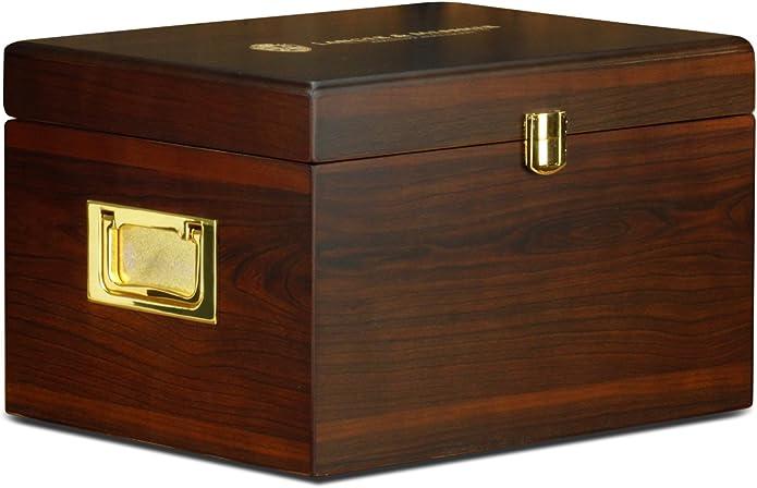 Langer & Messmer Caja de madera München con compartimientos para artículos de cuidado de zapatos, caoba: Amazon.es: Zapatos y complementos