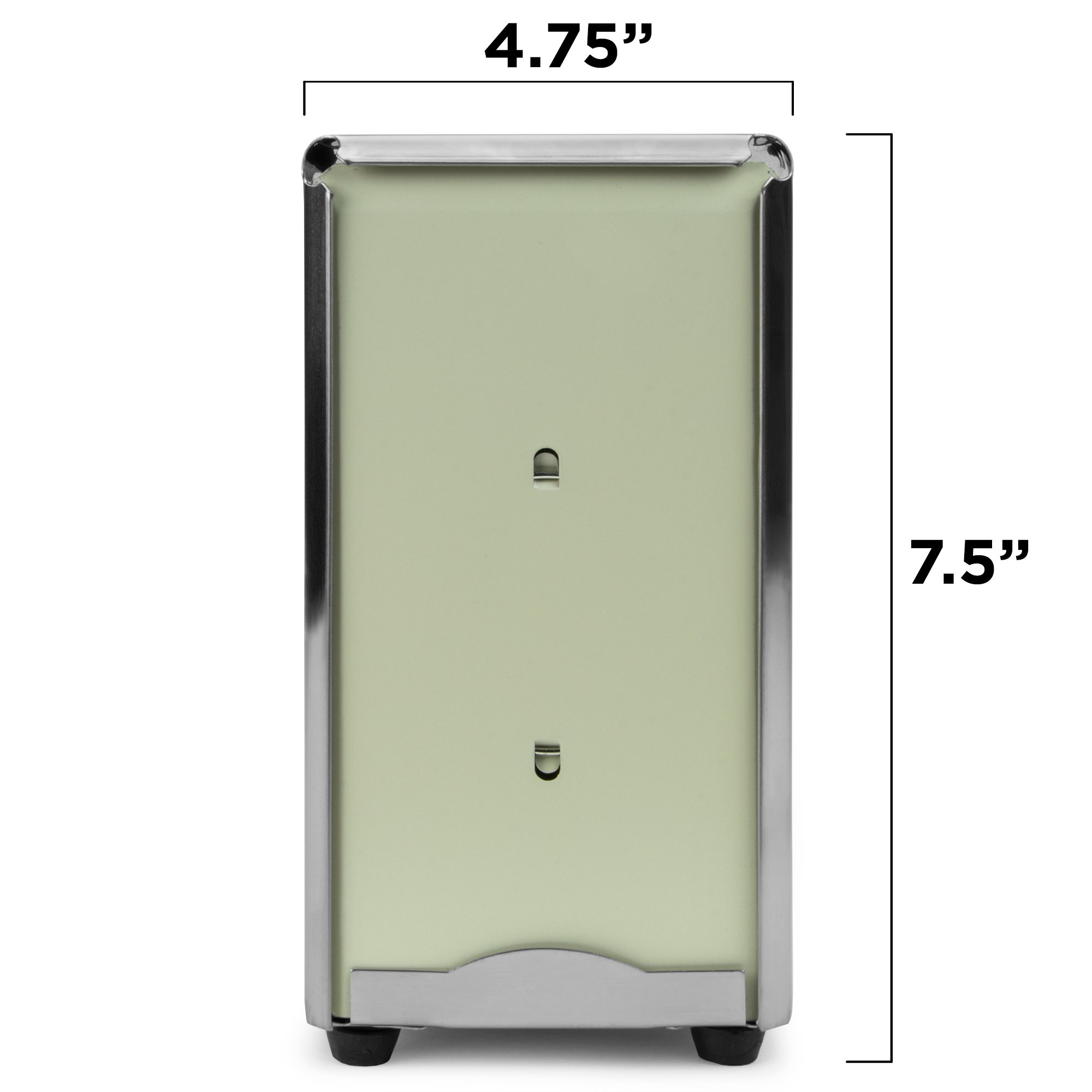 Back of House Ltd. Commercial Spring-Load Stainless Steel Tall-Fold Napkin Dispenser for Restaurants, Diners, & Home Use by Back of House Ltd. (Image #5)