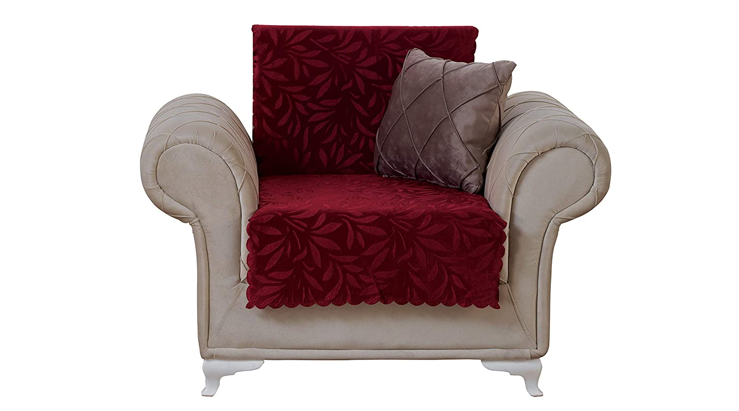 Amazoncom Chiara Rose Acacia Armchair Slipcover 3 Cushion Sofa