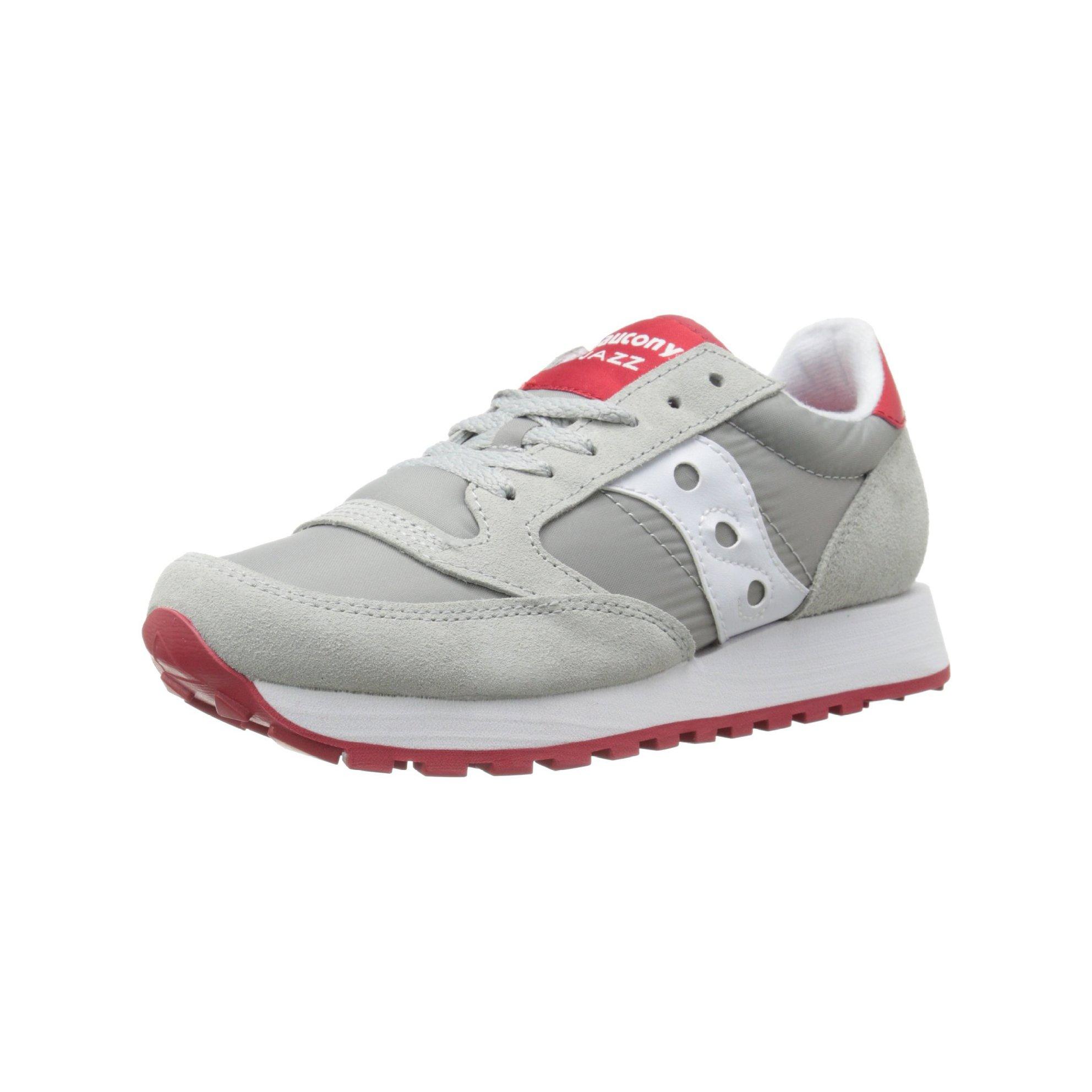 Saucony Originals Men's Jazz Original Retro Shoe, Grey/White/Red, 7 M US
