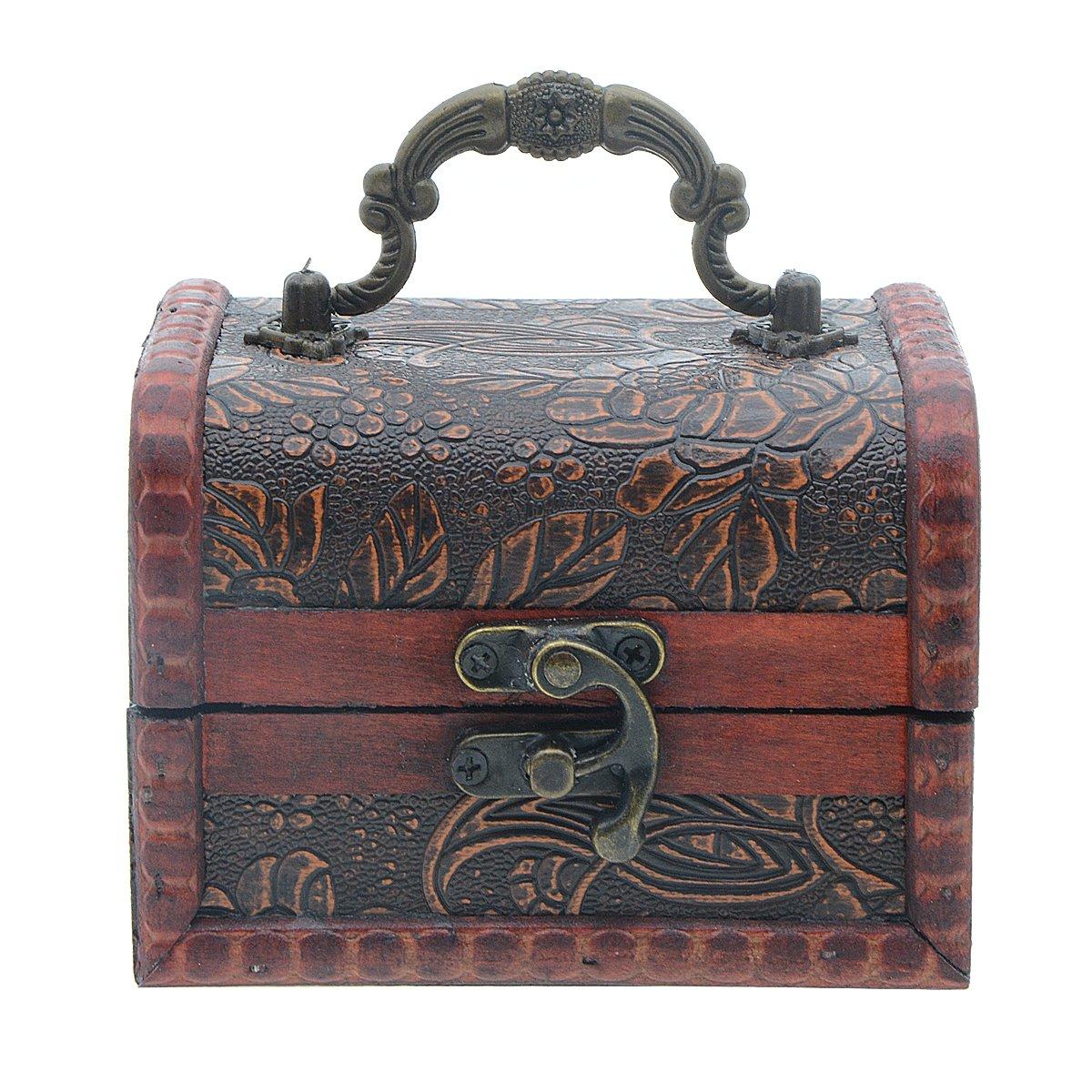 Saim Vintage Jewelry Box Organizer Wooden Case Jewelry Pearl Necklace Ring Bracelet Storage Holder Gift Box