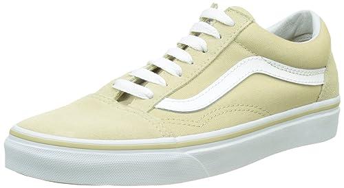 f9a5e48270e7a4 vans Shoes – Old Skool Pale Khaki White Size  38.5  Amazon.com.au ...