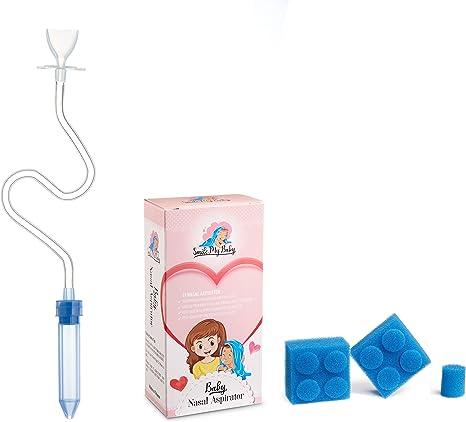 Smile My Baby - Aspirador nasal para bebé con 9 filtros higiénicos, seguro, libre de BPA y fácil de usar: Amazon.es: Bebé