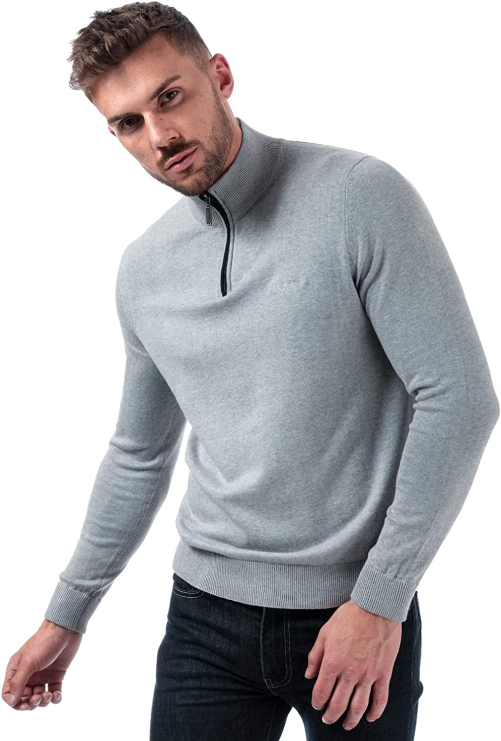 Ben Sherman Pull col cheminée Gris Homme: