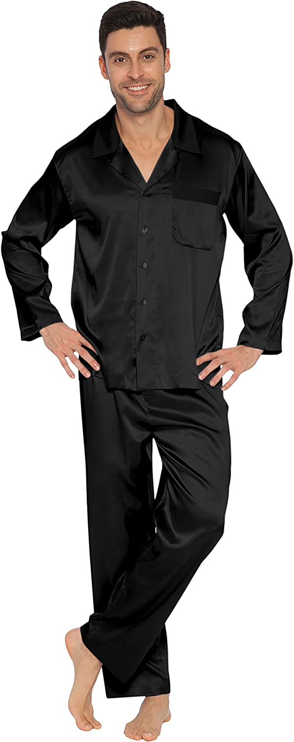 INTIMO Men's Classic Stretch Silk Pajamas