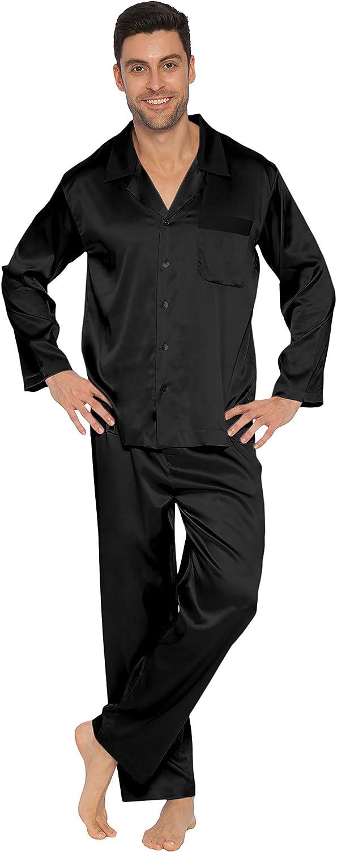 INTIMO Men's Classic Stretch Silk Pajamas