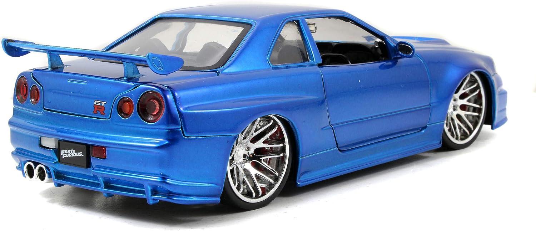 Fast /& Furious 1//32 2002 Nissan Skyline GTR R34 *bleu* m/Ã/©tal
