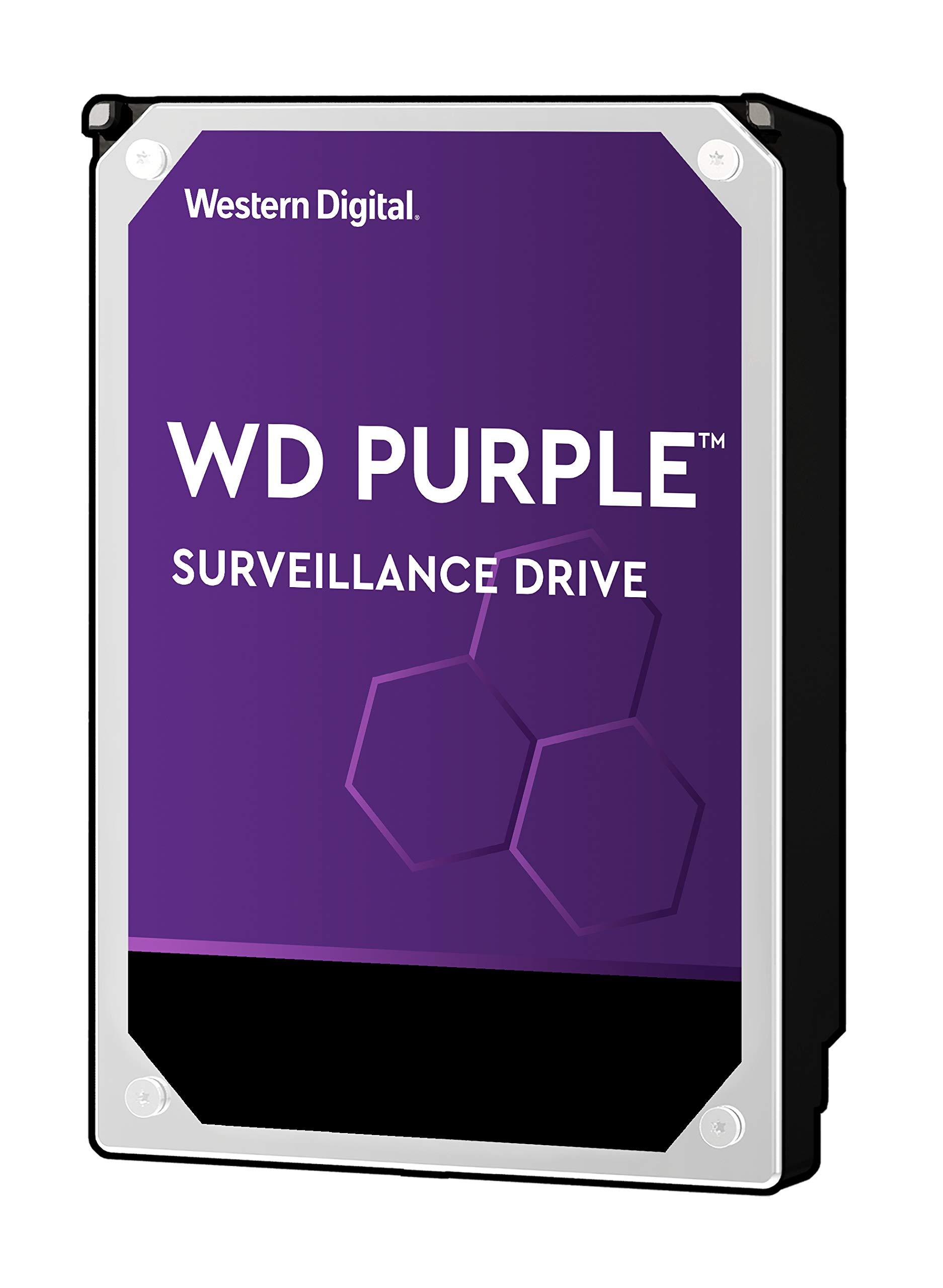 WD Purple 2TB Surveillance Hard Drive - 5400 RPM Class, SATA 6 Gb/s, 64 MB Cache, 3.5'' - WD20PURZ by Western Digital