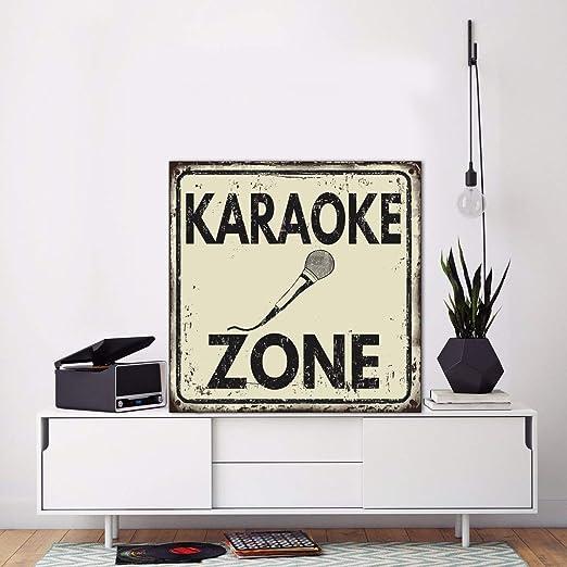 Dozili Cartel de Metal Personalizado Barra de Karaoke ...