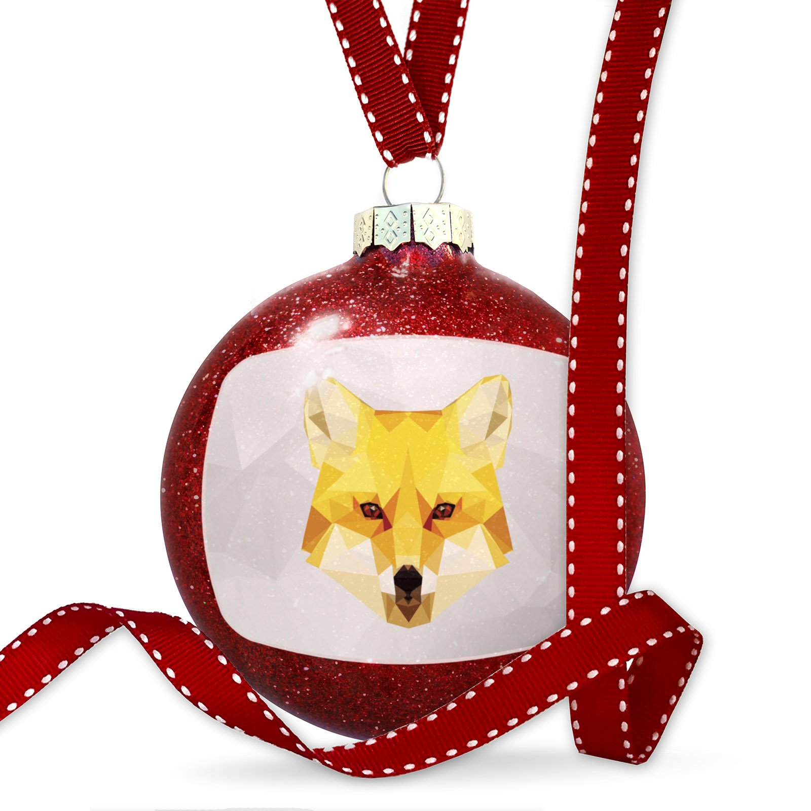 Christmas Decoration Low Poly zoo Animals Fox Ornament