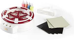 jojofuny Juego de 20 piezas de rodajas de pintura en madera 3D natural giroscopio vac/ío educativo pintura DIY juguete para ni/ños arte artesanal