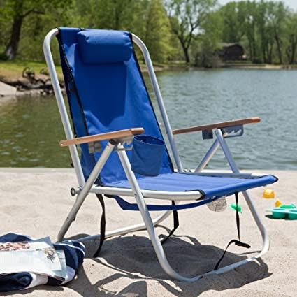 Amazon Com Wearever Aluminum Hi Back Backpack Beach Chair Yard Signs Garden Outdoor