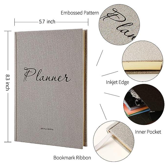 Amazon.com: Daily Planner 2019-2020 - Agenda de piel (tamaño ...