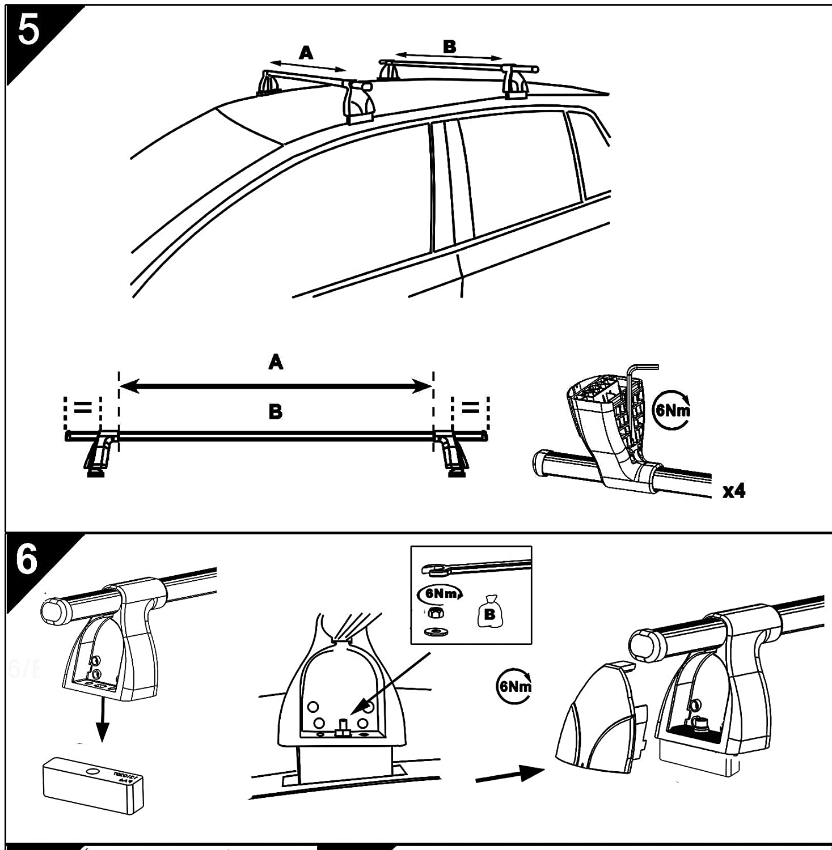 Aurilis Dachtr/äger Easy ONE kompatibel mit Hyundai i30 II Schr/ägheckI 5 T/ürer ab 2017