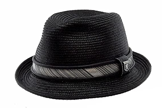 e7d7d71f755 STACY ADAMS Men s Pinch Front Black Fedora Hat at Amazon Men s ...
