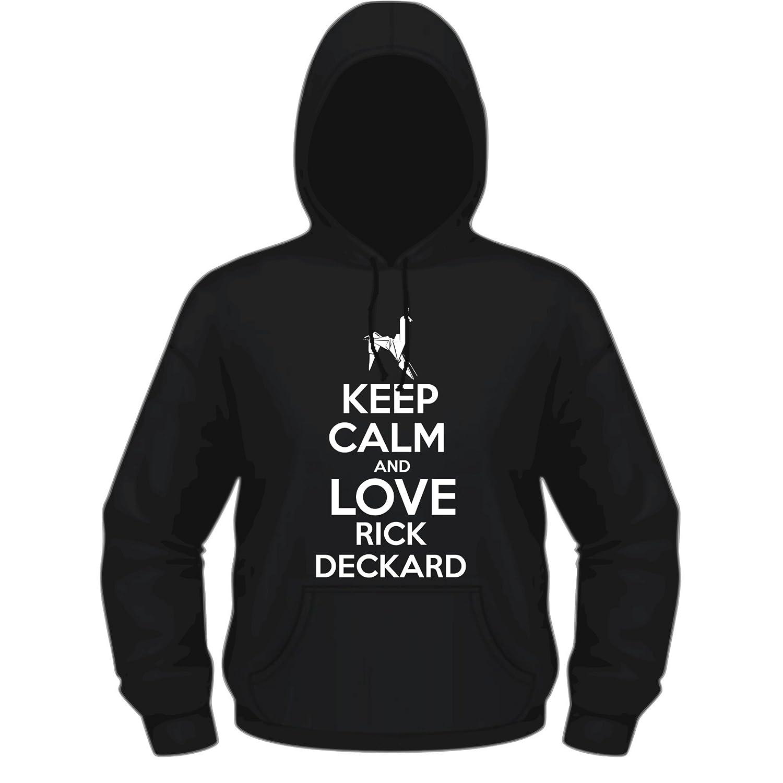 Creepyshirt - KEEP CALM AND LOVE RICK DECKARD - BLADE RUNNER INSPIRED HOODIE